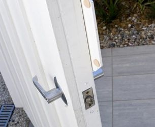 gate handle and lock