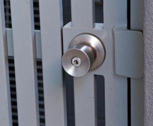 gate handle round angled