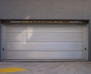 Aluminium Panel Lift Doors 007 Louvers 65x16mm