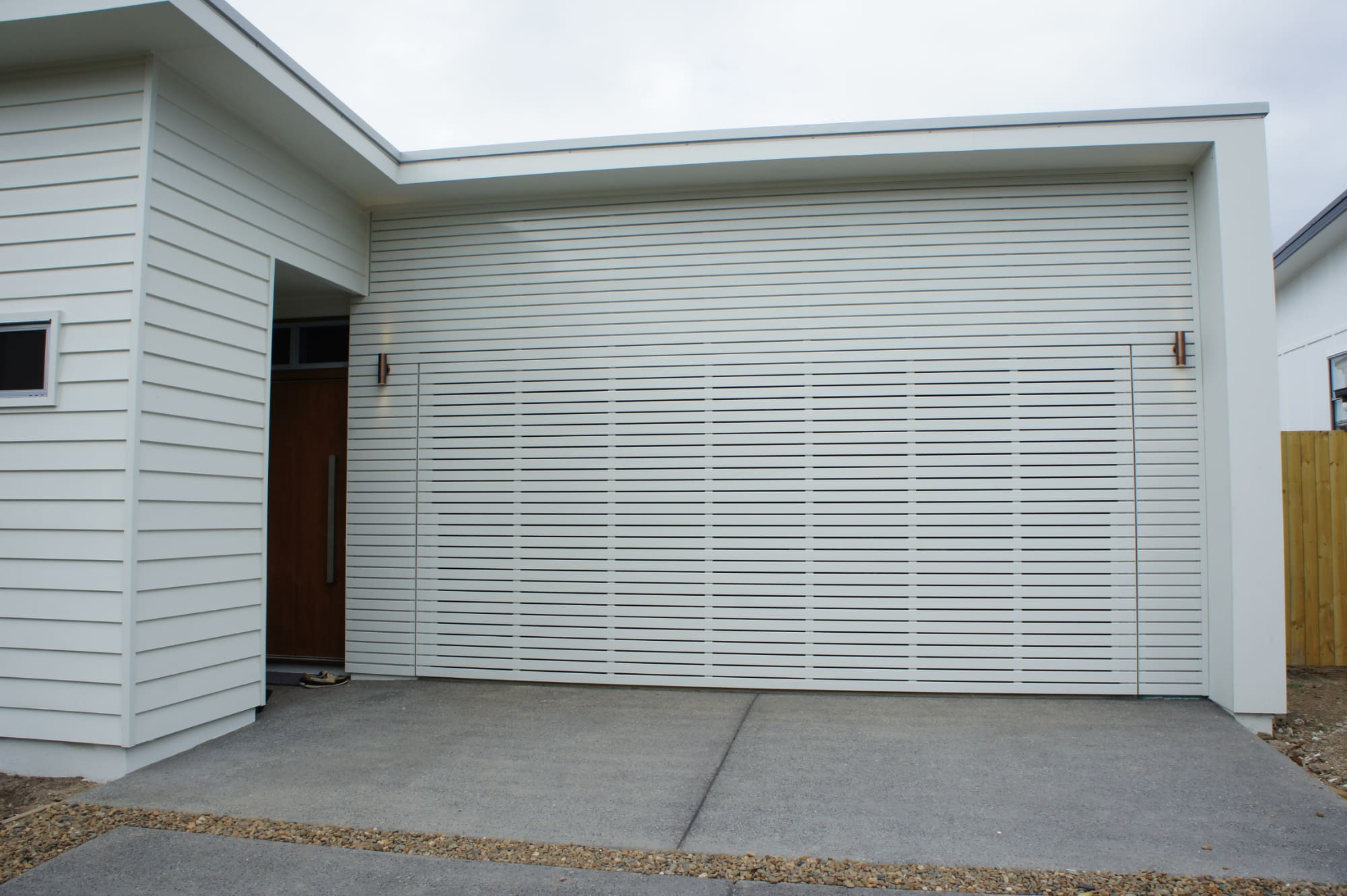single aluzinc alu steel block pattern double product horizontal zinc meranti ogoo door garage wood